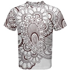Henna Line Art Clipart Men s Cotton Tee by Nexatart