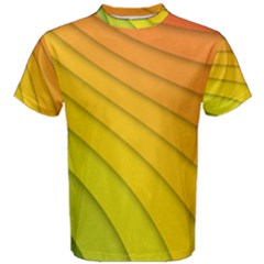 Abstract Pattern Lines Wave Men s Cotton Tee by Nexatart