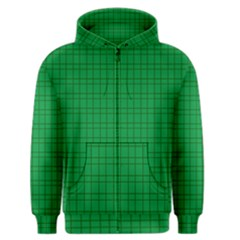 Pattern Green Background Lines Men s Zipper Hoodie by Nexatart