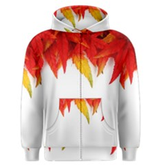Abstract Autumn Background Bright Men s Zipper Hoodie by Nexatart