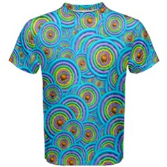 Digital Art Circle About Colorful Men s Cotton Tee by Nexatart
