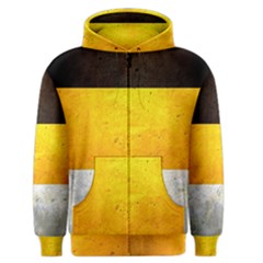 Wooden Board Yellow White Black Men s Zipper Hoodie by Mariart