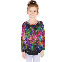 Colorful Bubble Shining Soap Rainbow Kids  Long Sleeve Tee by Mariart