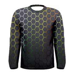 Hexagons Honeycomb Men s Long Sleeve Tee by Mariart