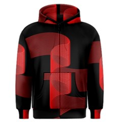 Tape Strip Red Black Amoled Wave Waves Chevron Men s Zipper Hoodie by Mariart