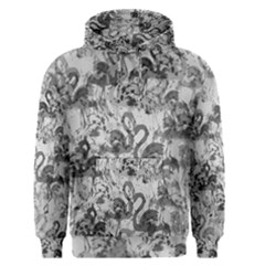 Flamingo Pattern Men s Pullover Hoodie by ValentinaDesign