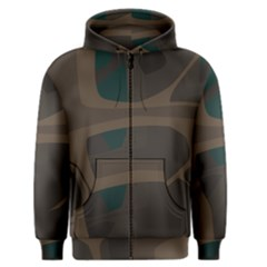 Tree Jungle Brown Green Men s Zipper Hoodie by Mariart