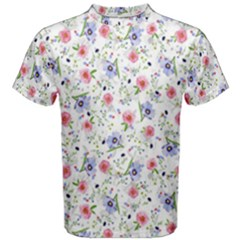 Floral Pattern Men s Cotton Tee by ValentinaDesign