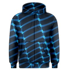 Background Light Glow Blue Men s Zipper Hoodie by Nexatart