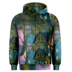 Background Forest Trees Nature Men s Zipper Hoodie by Nexatart
