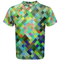 Pixel Pattern A Completely Seamless Background Design Men s Cotton Tee by Nexatart