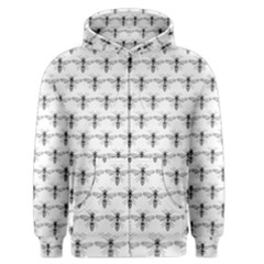 Bee Wasp Sting Men s Zipper Hoodie by Mariart
