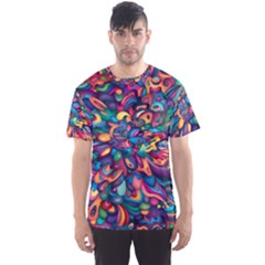 Moreau Rainbow Paint Men s Sports Mesh Tee by Mariart