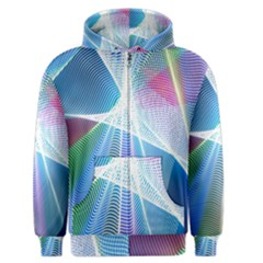 Light Means Net Pink Rainbow Waves Wave Chevron Green Blue Sky Men s Zipper Hoodie by Mariart