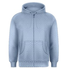 Seamless Lines Concentric Circles Trendy Color Heavenly Light Airy Blue Men s Zipper Hoodie by Mariart