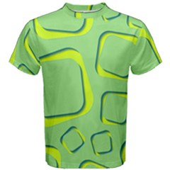 Shapes Green Lime Abstract Wallpaper Men s Cotton Tee