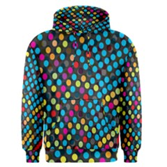 Polkadot Rainbow Colorful Polka Circle Line Light Men s Pullover Hoodie by Mariart