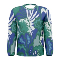 Tropics Leaf Bluegreen Men s Long Sleeve Tee by Mariart