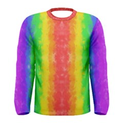 Striped Painted Rainbow Men s Long Sleeve Tee by Brini