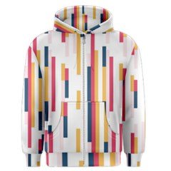 Geometric Line Vertical Rainbow Men s Zipper Hoodie by Mariart