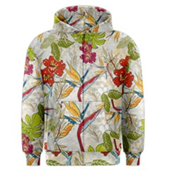 Flower Floral Red Green Tropical Men s Zipper Hoodie by Mariart