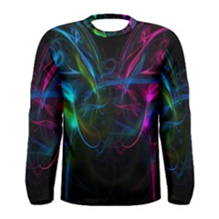 Light Waves Light Red Blue Men s Long Sleeve Tee by Mariart