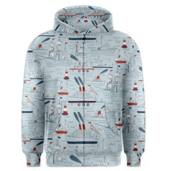 Ships Sails Men s Zipper Hoodie by Mariart