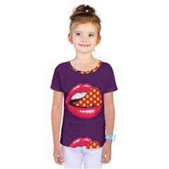Lip Vector Hipster Example Image Star Sexy Purple Red Kids  One Piece Tee by Mariart