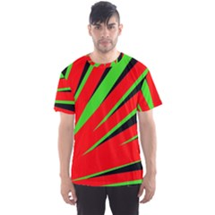 Rays Light Chevron Red Green Black Men s Sports Mesh Tee by Mariart