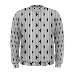 Stripes Line Triangles Vertical Black Men s Sweatshirt by Mariart