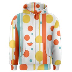 Stripes Dots Line Circle Vertical Yellow Red Blue Polka Men s Zipper Hoodie by Mariart