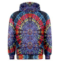 Circle Purple Green Tie Dye Kaleidoscope Opaque Color Men s Zipper Hoodie by Mariart