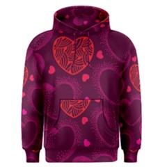 Love Heart Polka Dots Pink Men s Pullover Hoodie by Mariart