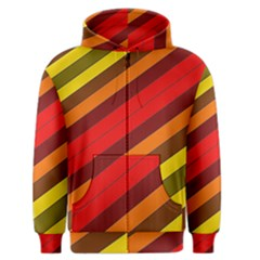 Abstract Bright Stripes Men s Zipper Hoodie by BangZart