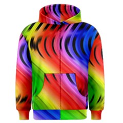 Colorful Vertical Lines Men s Zipper Hoodie by BangZart