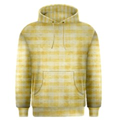 Spring Yellow Gingham Men s Pullover Hoodie by BangZart