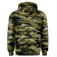 Military Vector Pattern Texture Men s Zipper Hoodie by BangZart