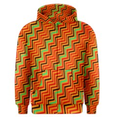 Orange Turquoise Red Zig Zag Background Men s Zipper Hoodie by BangZart