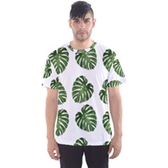 Leaf Pattern Seamless Background Men s Sports Mesh Tee by BangZart