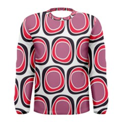 Wheel Stones Pink Pattern Abstract Background Men s Long Sleeve Tee by BangZart