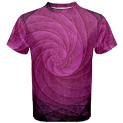 Purple Background Scrapbooking Abstract Men s Cotton Tee by BangZart
