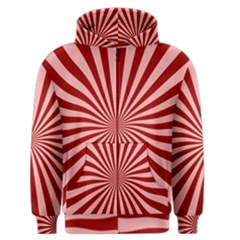 Sun Background Optics Channel Red Men s Zipper Hoodie by BangZart