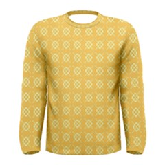 Yellow Pattern Background Texture Men s Long Sleeve Tee by BangZart