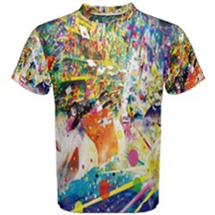 Multicolor Anime Colors Colorful Men s Cotton Tee