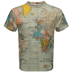 Vintage World Map Men s Cotton Tee by BangZart
