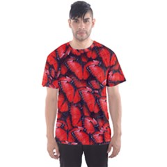 The Red Butterflies Sticking Together In The Nature Men s Sports Mesh Tee by BangZart