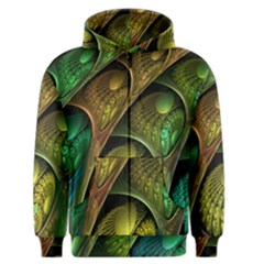 Psytrance Abstract Colored Pattern Feather Men s Zipper Hoodie by BangZart