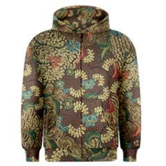 Colorful The Beautiful Of Art Indonesian Batik Pattern Men s Zipper Hoodie by BangZart