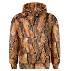 Bark Texture Wood Large Rough Red Wood Outside California Men s Zipper Hoodie by BangZart