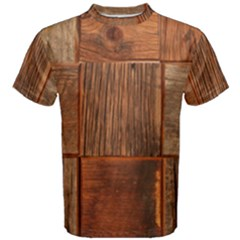Barnwood Unfinished Men s Cotton Tee by BangZart